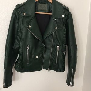 Blanknyc Green Moto Leather Jacket